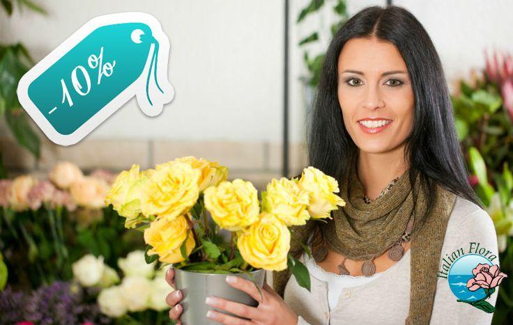 Italian Flora, rete specializzata nella vendita di fiori online, offre uno sconto del 10% su tutti i prodotti presenti nella pagina offerte del suo sito. Scopri il codice da utilizzare: http://maxisconti.net/offerta/sconto-del-10-su-tutte-le-offerte-di-italian-flora/