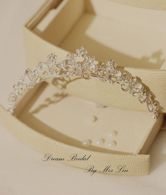 Wedding Tiara Crystal Wedding Crown Rhinestone by DreamBridal2015