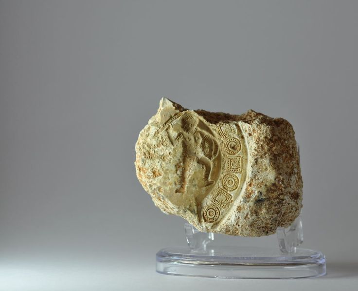 Roman oil lamp mould, 3rd century A.D. Roman oil lamp mould with gladiator. Private collection