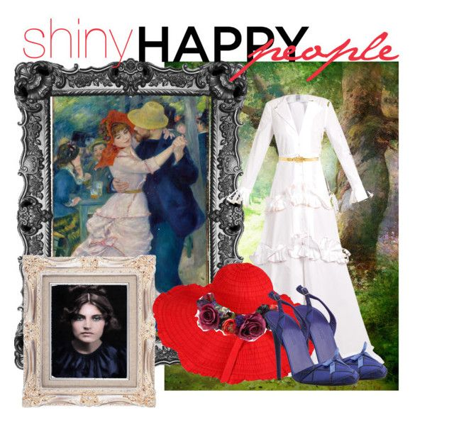 """""""Shiny happy people: Suzanne Valadon"""" by lullulu on Polyvore featuring Menu, Rosie Assoulin, Rock 'N Rose, Alexander McQueen and Nina Ricci"""