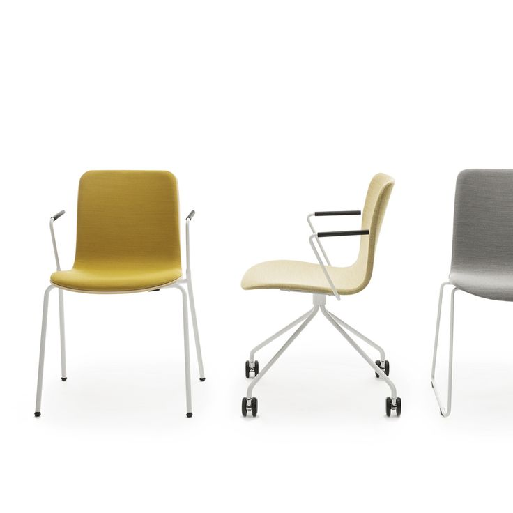 In addition to the universal chair with various different base options the Sola chair series designed by Antti Kotilainen also includes bar stools with different base and backrest options.