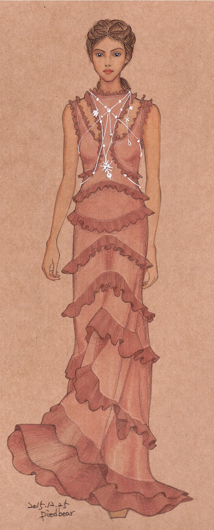 #2016 S/S #AlexanderMcQueen #fashion #fashionillustration #fashiondrawing #fashionsketch #readytowear @drawadot