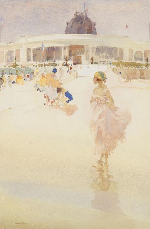 William Russell Flint - Ballerinas on the Beach