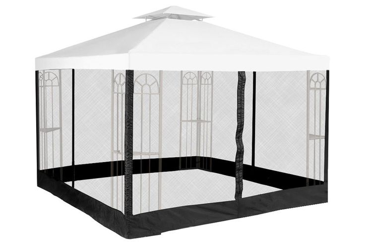 10' x 10' Mosquito Net for Gazebo $86.99  Our 10'x10' gazebo insect netting consists of two 10'x10' panels that stretch around your gazebo, and attach to its frame with quick & easy Velcro straps.