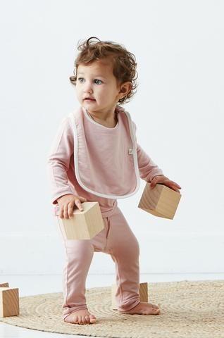 Baby Bib in Rose - Boody Organic Bamboo Eco Wear