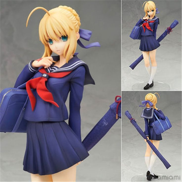 17.70$  Buy here - http://ali4oi.shopchina.info/go.php?t=32803002200 - Anime ALTER Fate Stay Night School Uniform Saber Sailor clothes H18cm Sexy Girl Kawaii Collection Model Toy Dianxiatoy 17.70$ #aliexpress