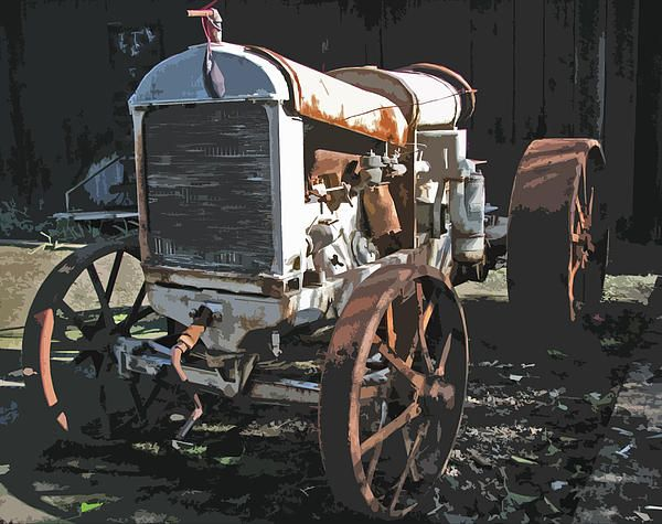 Vintage tractor with metal wheels by Samuel Sheats on Fine Art America. #vintage #antique #tractor