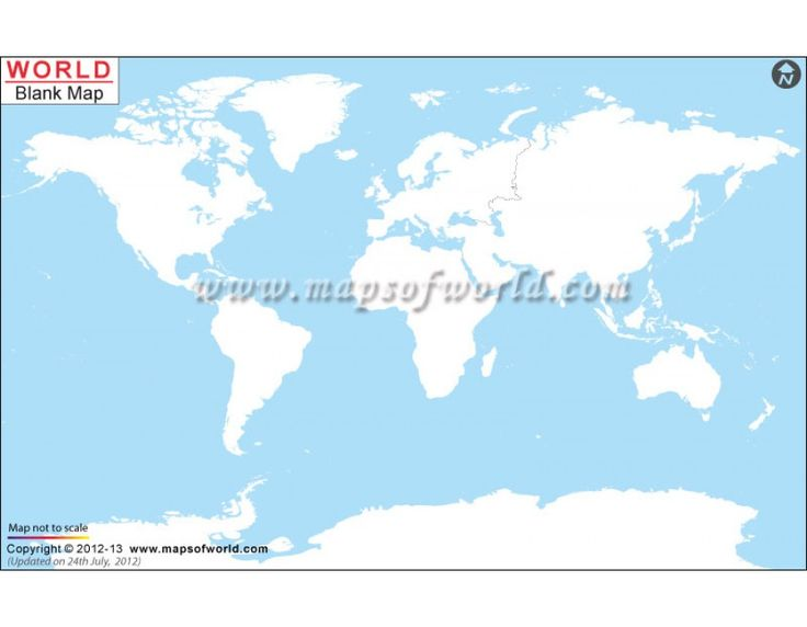 Best Blank World Map Ideas On Pinterest World Map Printable - Blank world map a4