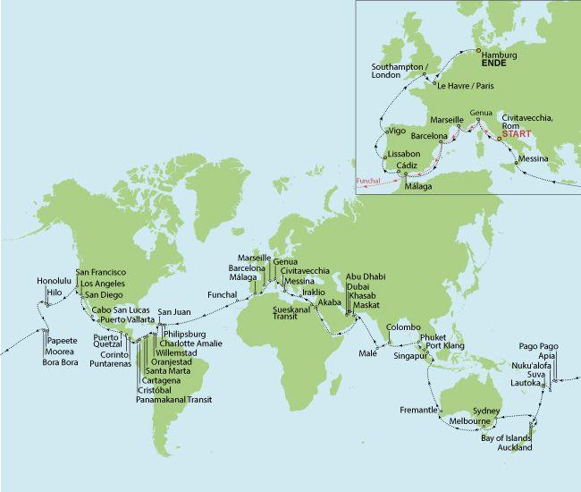 Kreuzfahrt Weltreise - 130 Nächte Balkonkabine für nur 17.999 p.P. inklusive Flug! MSC MAGNIFICA – WELTREISE,