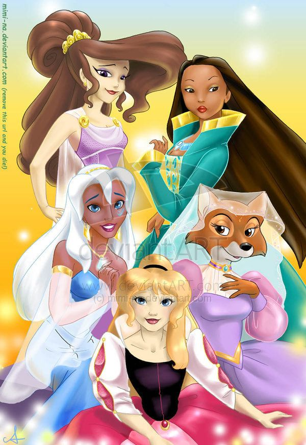 The Princesses the world forgot... Sad, because they're the coolest ones!!