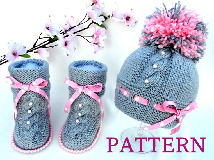 Baby Knitting P A T T E R N Baby Set Knitting Baby Hat Baby Shoes Knitted Baby Hat  Baby Booties Baby Boy Baby Girl Pattern ( PDF file ) by Solnishko43 on Etsy https://www.etsy.com/listing/177865046/baby-knitting-p-a-t-t-e-r-n-baby-set