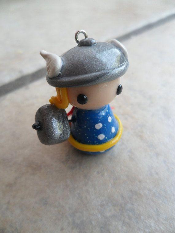 Thor Polymer Clay Pawn Charm or Pendant by AmandaVenuti on Etsy, $8.00