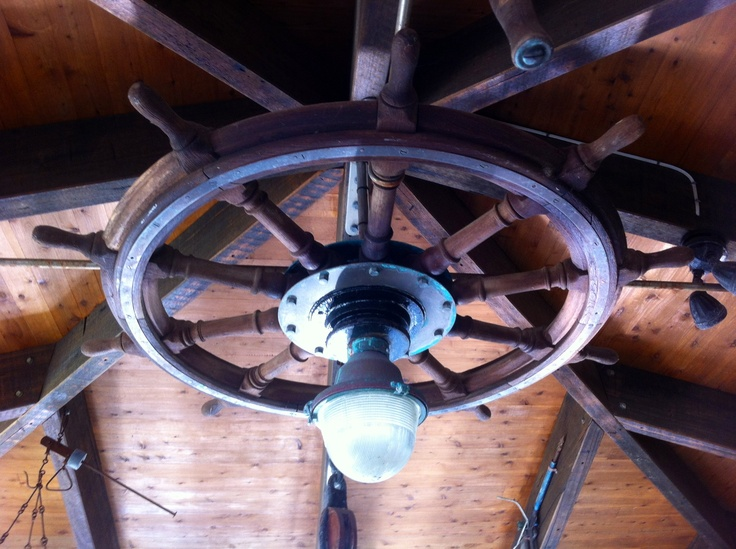 Ships Wheel Ceiling Light ⚓️notably Nautical⚓️