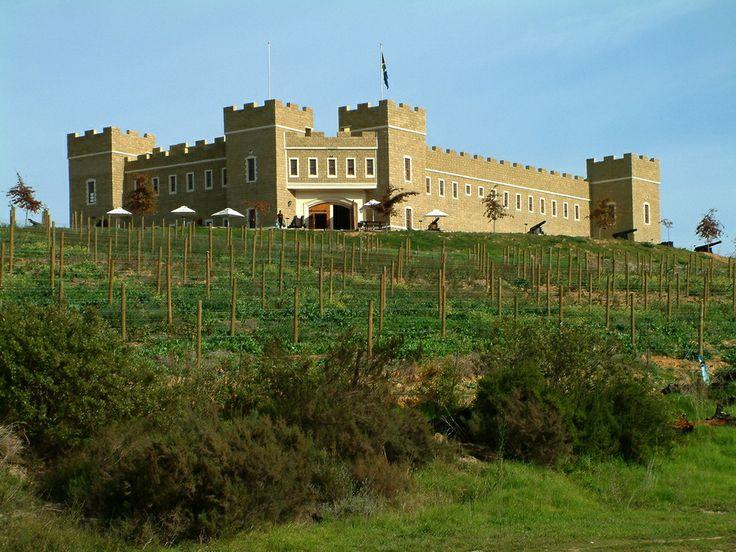 A castle near Stellenbosch, South Africa.