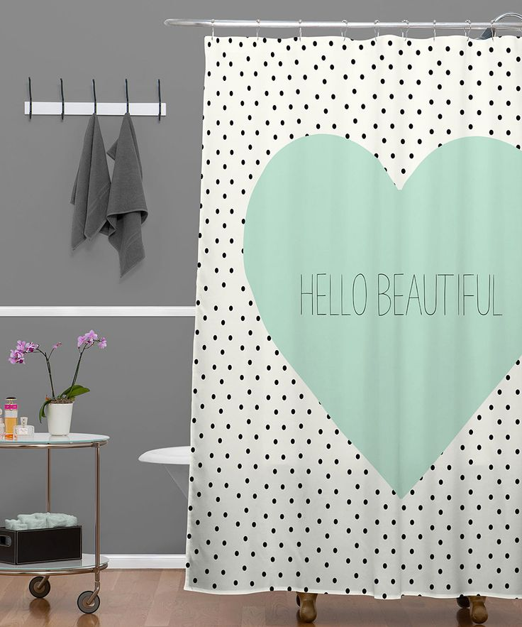 39 Hello Beautiful 39 Shower Curtain For The Home Pinterest