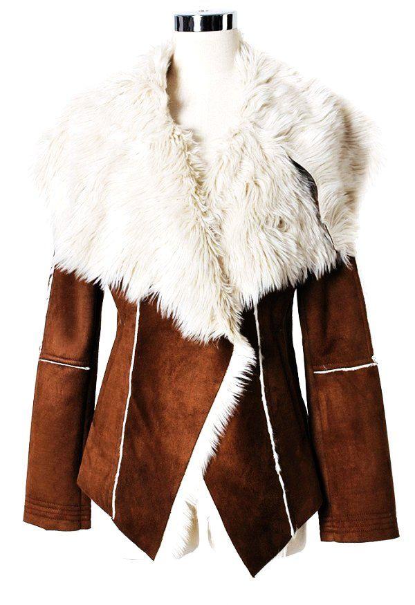 fur collar womens winter coats - womens winter coats-f28364.jpg (600×875)