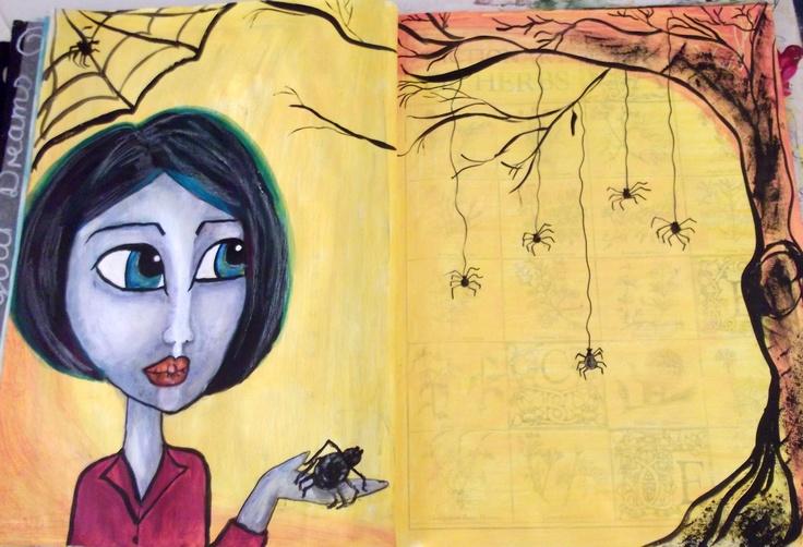My art journal entry. Spider Love