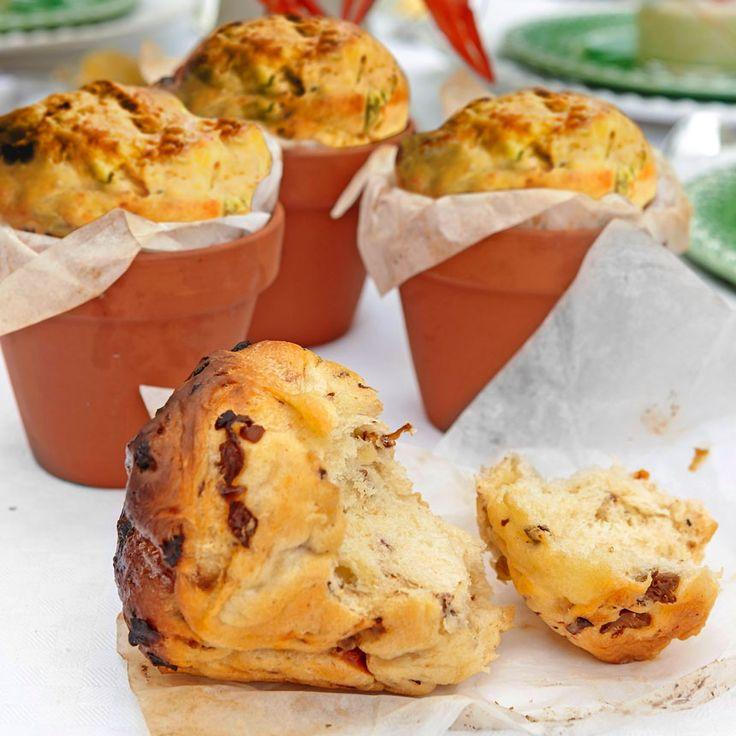 Muffins salés aux champignons et tomates séchées - Krukbröd