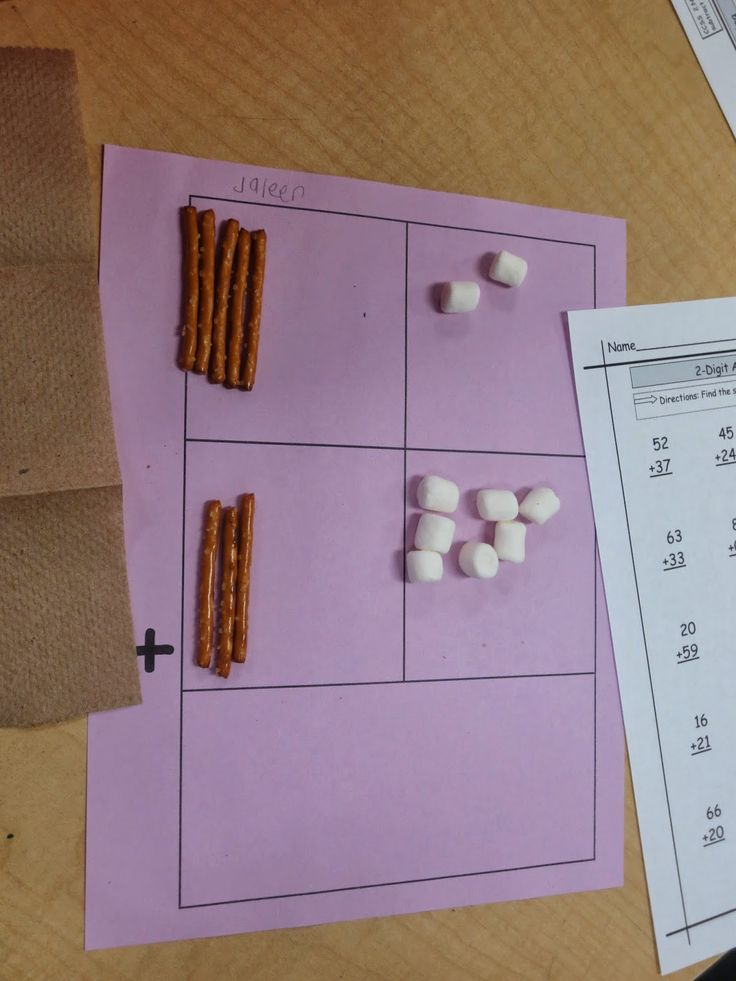 Moments to Teach: Adding Two Digit Numbers: Food Fun