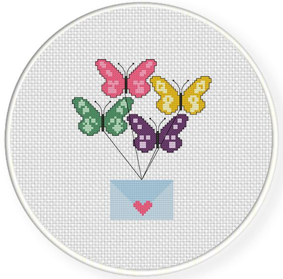 FREE for Feb 6th 2015 Only - Messenger Butterflies Cross Stitch Pattern