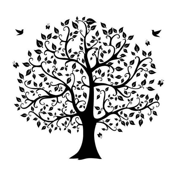 Tree Silhouette Digital Clipart Png Files Clip Art Images