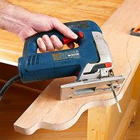 Jigsaw on curved board -- choosing the right blade