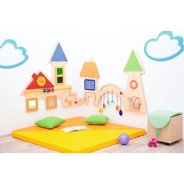 Ścianka manipulacyjna MIASTO #moje bambino #SI #playground  http://www.mojebambino.pl/kaciki-manipulacyjno-sensoryczne/1543-scianka-manipulacyjna-miasto.html