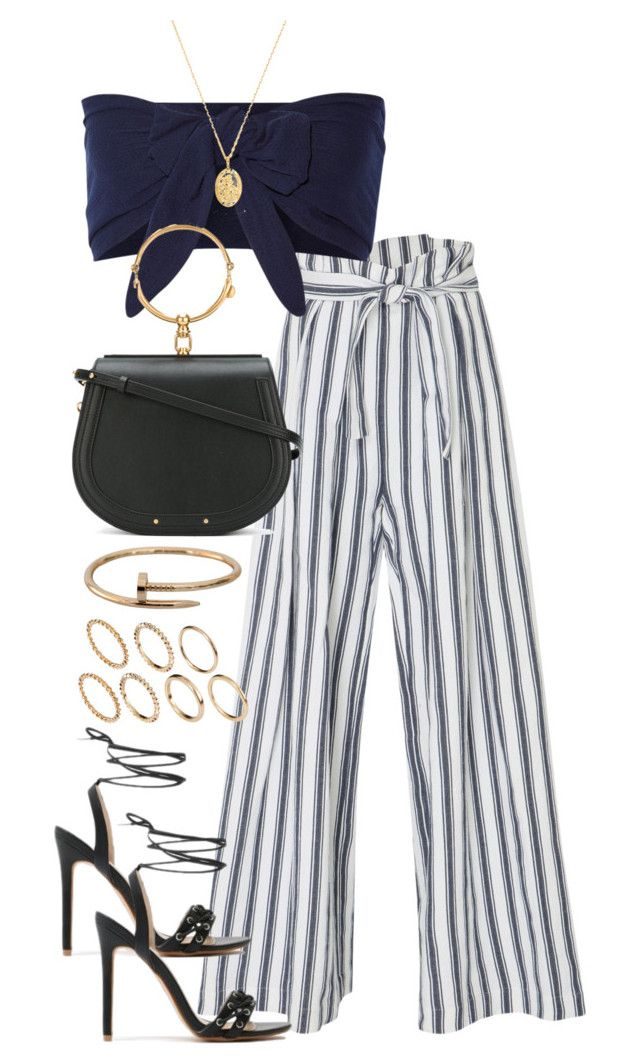 """""""Untitled #4264"""" by theeuropeancloset on Polyvore featuring Three Graces, Solid & Striped, Public Desire, Chloé, Theodora Warre, Cartier and Pieces"""