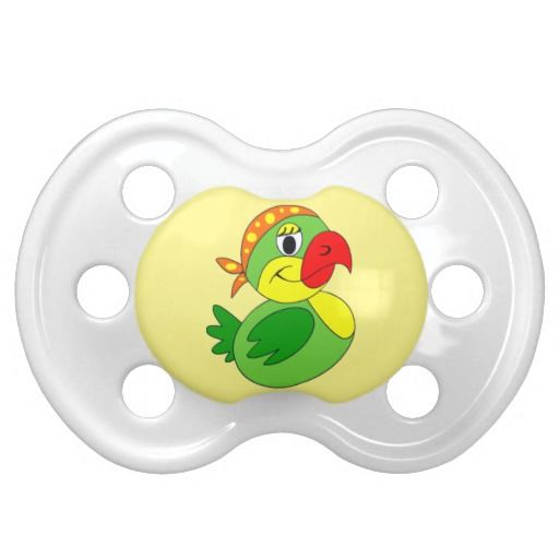 Pirate parrot pacifier