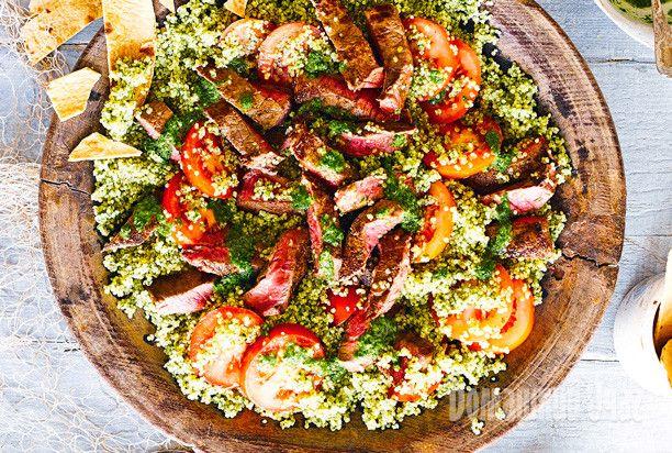 Стейк-салат с кускусом