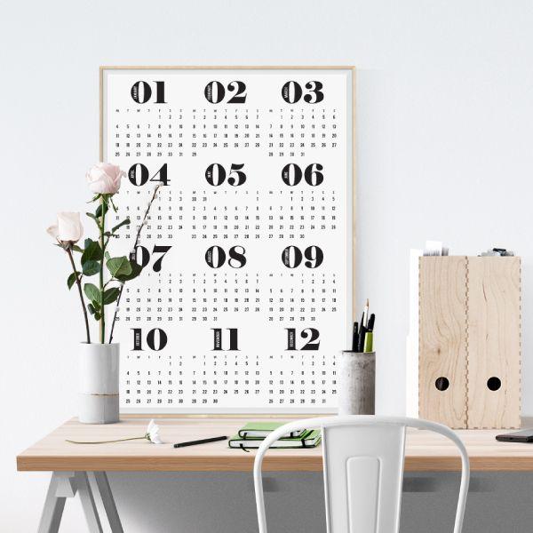 2016 calendar poster - white