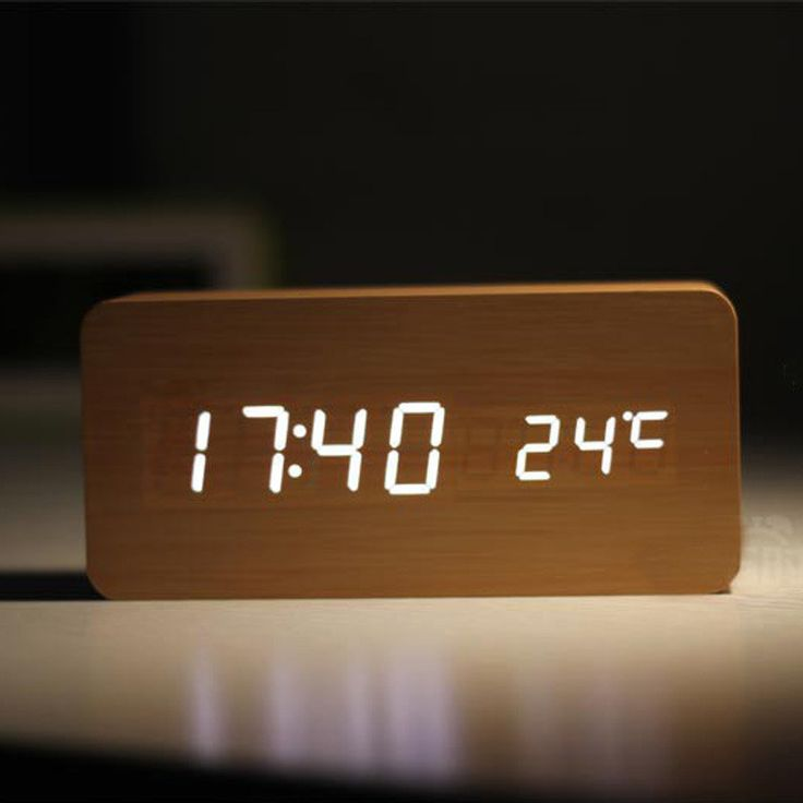 FiBiSonic Alarm Clocks with Thermometer ,Wood Wooden Led clocks, Digital Table Clock,Electronic Clocks With Cost  http://www.justleds.co.za