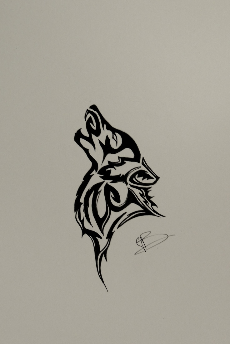 I know this looks like the basic tribal wolf you find when you google it, but I DID change it to make it my own. Enjoy :) $35 for original piece, $20 for copies