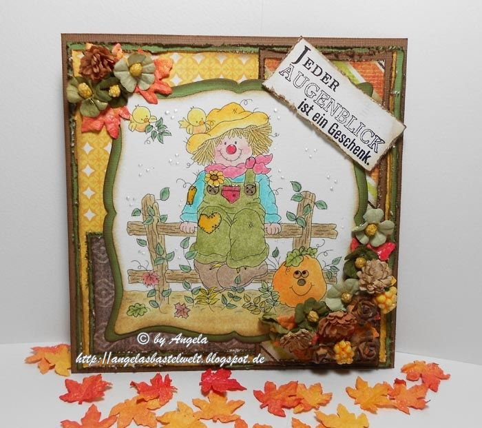 Autumn Card with Whimsy Digi Stamp Autumn Delight