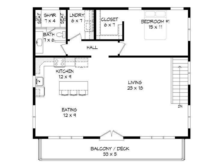 2nd Floor Plan 062g 0137 With Images Carriage House Plans