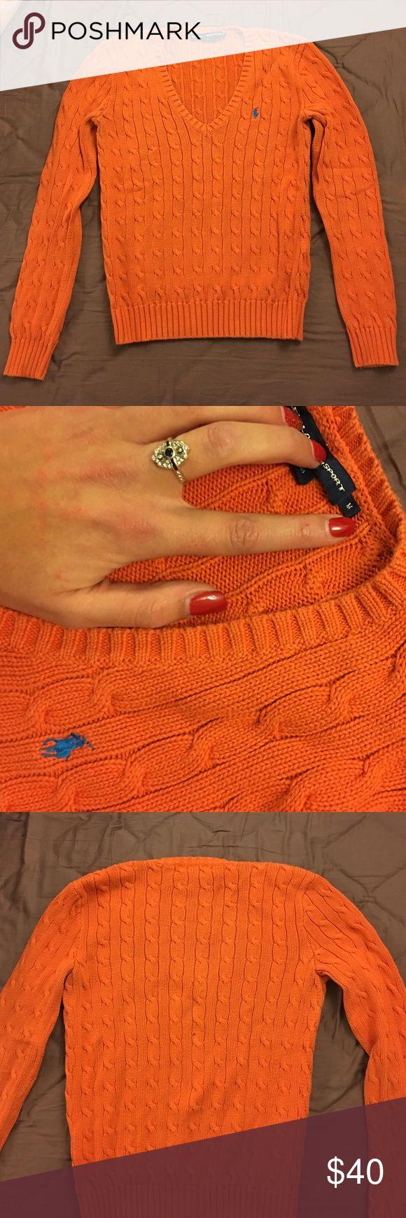 RALPH LAURENT SPORT SWEATER Cute RL orange sweater, never gets old. Ralph Lauren Sweaters V-Necks