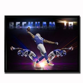 The Odell Beckham Jr Limited Edition The Catch Poster designed by TSS artist Robin Curtis.