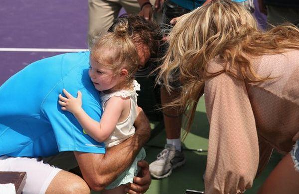 Tommy Haas cu fetita, Valentina