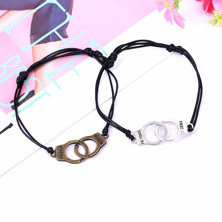 Унисекс браслеты 50 градусов серый наручники переплетения браслет ретро античного браслет для мужчин и женщин плетеные браслеты новинка