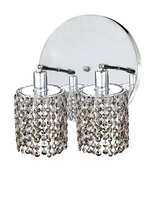 80% OFF Elegant Lighting Mini Crystal Collection 2-Round Wall Sconce, Golden Teak