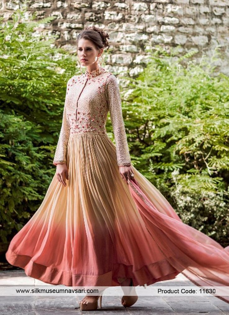 Riveting Multi Colour Anarkali Suit