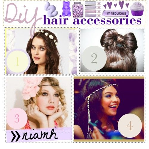 DIY Girls Hair Accessories | DiY; hair accessories ♥ {TiP GiRL AUDiTiON} - Polyvore