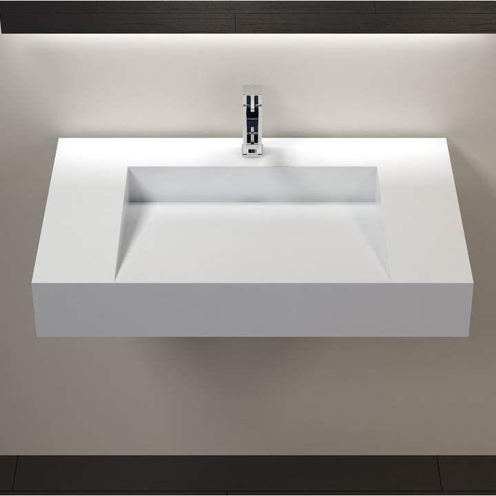 Polymarble 31 Wall Mount Bathroom Sink