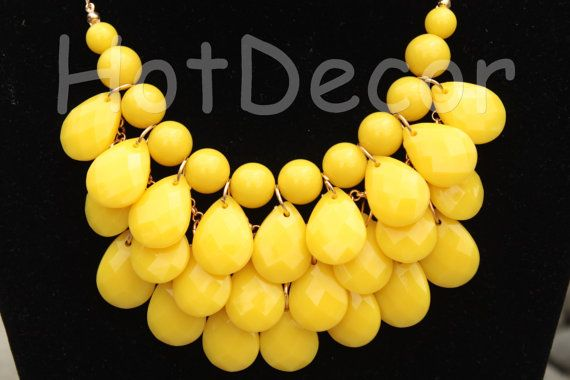 Yellow Anthropologie Style Statement necklaces fashion by HotDecor, $12.99