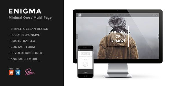 Enigma | Creative Responsive Minimal HTML Template - Creative Site Templates