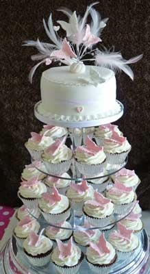 Cupcake Decorating Ideas For Weddings : 17 Best images about Cupcake Towers on Pinterest ...