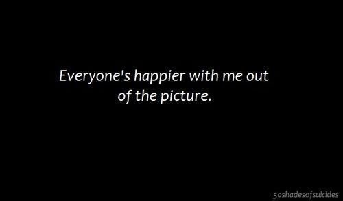 Dark Depressed Quotes   girl quote Black and White happy depressed depression suicidal suicide ...