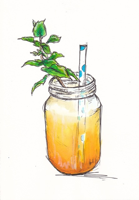 Sweet mango and mint drink... http://traceyfletcherking.blogspot.com.au/