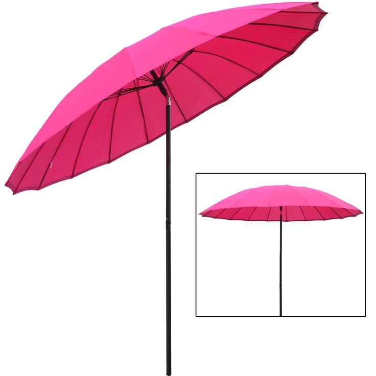 details about new tilting shanghai parasol umbrella sun shade for garden patio furniture. Black Bedroom Furniture Sets. Home Design Ideas