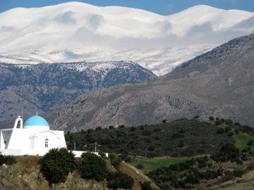 Snow covered Psiloritis, Crete
